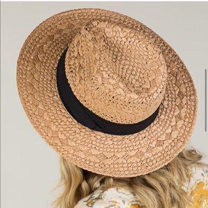 Woven Straw Fedora Panama Hat